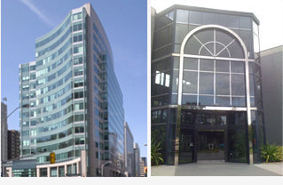 FedTechServices' locations, from left to right, the World Exchange Plaza in Ottawa, Ontario and the Tampa, FL location